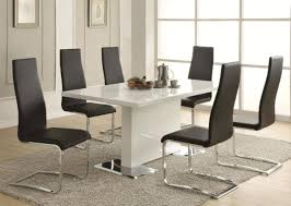 Black And White Kitchen Table White Leather Dining Room Set Dining Room Chairs Ikea Dining