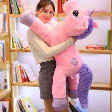 <b>2019 new arrival</b> large unicorn plush toys <b>cute</b> pink white horse soft ...