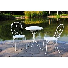 crossman piece outdoor bistro: piece small space scroll outdoor bistro set white seats