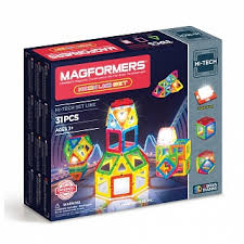 <b>Магнитный конструктор MAGFORMERS</b> Neon Led set [709007]