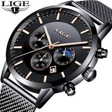 New LIGE <b>Mens Watches</b> Luxury <b>Business</b> Male Quartz <b>Watch Men</b> ...