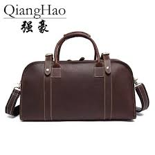 Shop <b>Men's</b> Vintage Crazy horse leather <b>travel duffle</b> 18 inch Brown ...