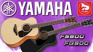 <b>Акустические гитары YAMAHA</b> FS800 и YAMAHA FG800 - YouTube