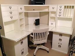 pottery barn bedford corner desk hutch chair and acrylic desktop protector bedford shaped office desk