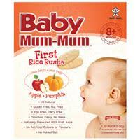 Buy <b>Baby Mum</b>-<b>Mum</b> Rice Rusks <b>Apple</b> & Pumpkin Flavour 36g ...