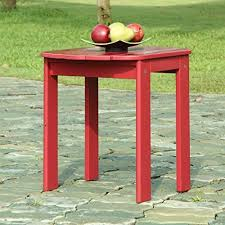 Sali <b>Red Solid Wood</b> End Table | gereze 2 in <b>2019</b> | Patio side table ...