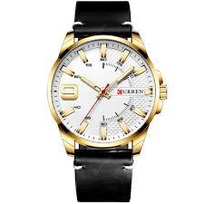 <b>CURREN</b> 8371 Men's Quartz Watch Water-resistant Large Dial ...