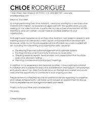 best executive assistant cover letter examples livecareer gallery of personal assistant cover letter example