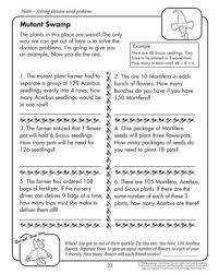 Mutant Swamp – Printable Division Worksheets for 4th Grade – Math ...Mutant Swamp - Printable Division Worksheet for Fourth Graders