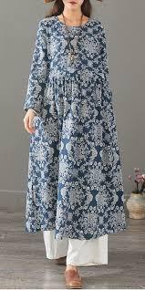 <b>Vintage Floral</b> Cotton Linen Maxi Dresses <b>Women</b> Loose Clothes ...