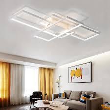 <b>Modern White LED</b> Flush Mount Ceiling Light Square Combination ...