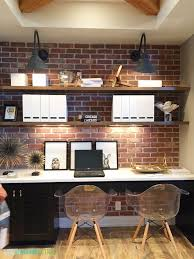 smart office design with exposed brick walls basement office setup 3 primary