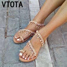 <b>VTOTA</b> Luxury <b>Shoes</b> Women Designers <b>Flat</b> Sandals Ladies ...