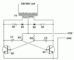 simple inverter  v dc to  v ac   schematic designsimple inverter  v dc to  v ac circuit diagram