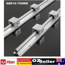 2 Set <b>SBR16</b>-750MM <b>Linear Rail</b> Rod Support + 4pcs SBR16UU ...