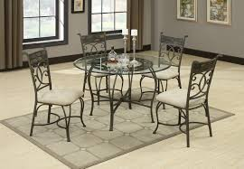 Glass Dining Room Tables Round Ravishing Glass Round Dining Table With Black Steel Cross