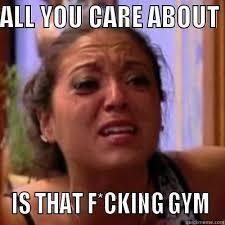 Insecure Girlfriend (Gym) - quickmeme via Relatably.com