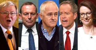 Image result for australian politicians abbott vs turnbull