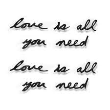 <b>Декоративная надпись Love is</b> all you need оптом под логотип