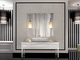 wall sconces bathroom lighting designs artworks:  bathroom ideas in vogue two rectangle washbasin for black vanities also square wall mirror added