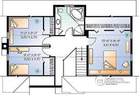 House plan W detail from DrummondHousePlans com    nd level Rustic cottage simple house plan  open floor plan   fireplace  to