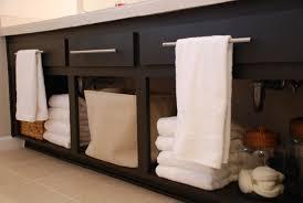 open bathroom vanity cabinet: