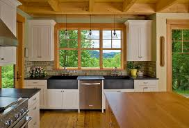 vermont hilltop home large traditional open concept kitchen idea in burlington with an integrated sink shaker apron kitchen sink kitchen sinks alcove