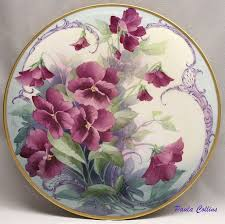 Paula Collins (With images) | Pansies, Porcelain art, Hand painted ...