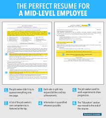 this is an ideal resume for a mid level employee you can have ideal resume for mid level