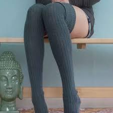 <b>1 Pair</b> Women Girl Over Knee High Socks <b>Spring Autumn</b> Winter ...