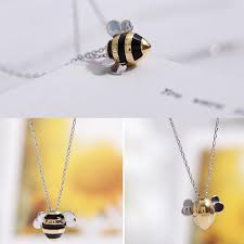 925 Sterling Silver <b>Jewelry Korean Fashion</b> Cute Bee Exquisite ...