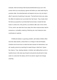 essay  what are the causes of childhood obesityfor    example