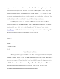 Essay Nursing Career   Kakuna Resume  You     ve Got It  Career Research Reflection