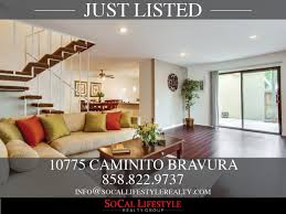 socal lifestyle realty a san diego real estate team focused on 10775 caminito bravura eflyer