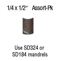 1/4″ x 1/2″ Aluminum Oxide BANDS <b>12</b>-<b>Pc</b> Assortment <b>Pack</b> ...