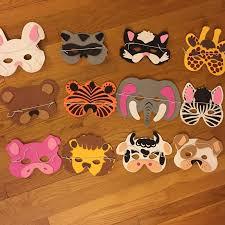 <b>6pcs Cartoon Animal</b> Masks Birthday Party Supplies Kids gift Party ...