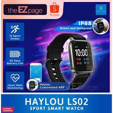 <b>Haylou LS02</b> Smart Watch Heart Rate Fitness Tracker <b>1.4inch</b> TFT