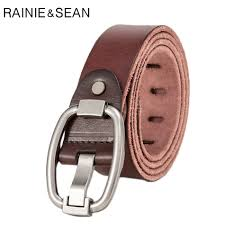 <b>RAINIE SEAN</b> Men's Pin Buckle Belt For Trousers Italian Cow ...