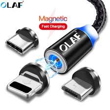 La <b>OLAF</b> Cable magnético 3A rápido de carga de Micro <b>USB</b> tipo <b>C</b> ...