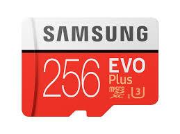 MicroSDXC EVO Plus Memory <b>Card</b> w/ Adapter <b>256GB</b> (2017 Model ...