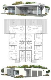 ideas about Duplex House Plans on Pinterest   Duplex House    Duplex House Plan to narrow lot  Possible income I future