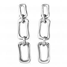 Купить <b>Серьги</b> «Chain by chain» Серебряный ручной работы в ...
