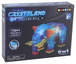 <b>Конструктор Crystaland</b> Lighted Brix 99014 <b>Животные</b> 6 в 1 ...