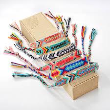 Woven Braided <b>Bracelet Retro</b> Handmade <b>Bohemian Thread</b> ...