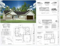 Modern House Floor Plans  FREE Contemporary House Plan  FREE    Spec House Plans