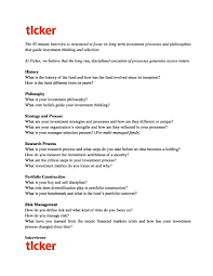 advisorselect ticker fund q a interview format line number 106