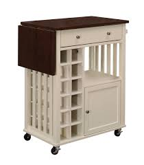 leaf kitchen cart: homelegance canela kitchen cart with drop leaf and casters