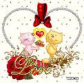 Анимация открытки любовь