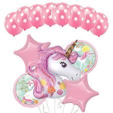 Buy <b>13pcs</b>/Set Unicorn <b>Balloon Happy Birthday</b> Latex Dot <b>Balloons</b> ...