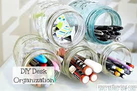 jar crafts home easy diy: mason jar desk organization diy desk organization mason jars mason jar desk organization